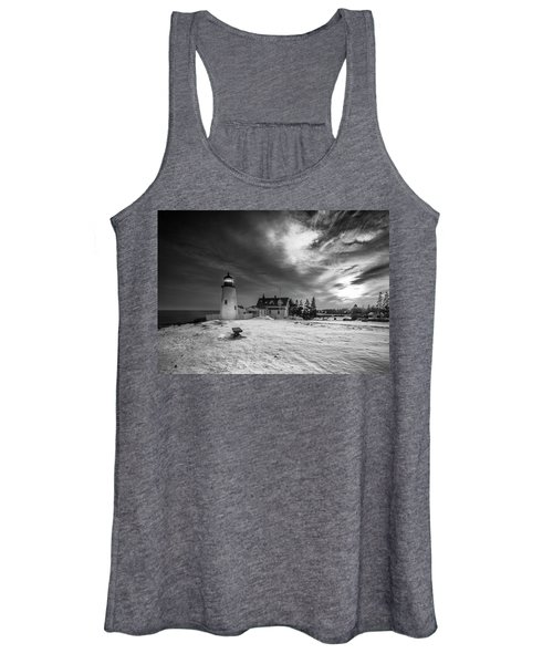 Maine Coastal Storm Over Pemaquid Lighthouse Women's Tank Top
