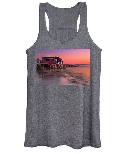 Maine Coastal Sunset At Dicks Lobsters - Crabs Shack Women's Tank Top