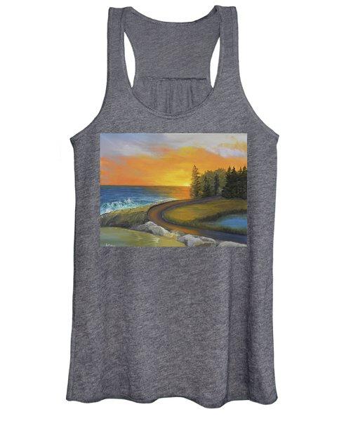 Maine Ocean Sunrise Women's Tank Top