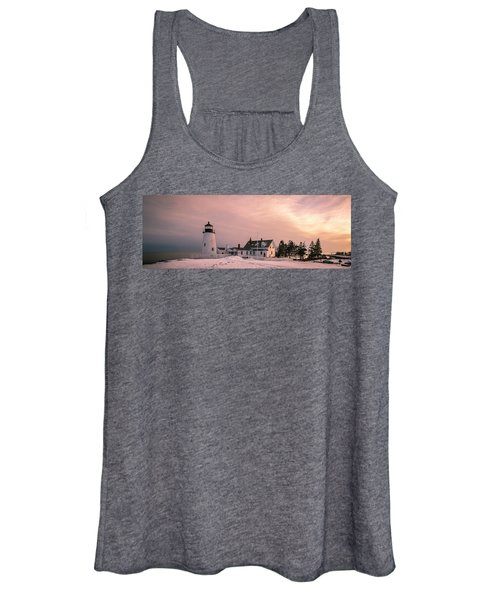 Maine Pemaquid Lighthouse After Winter Snow Storm Women's Tank Top