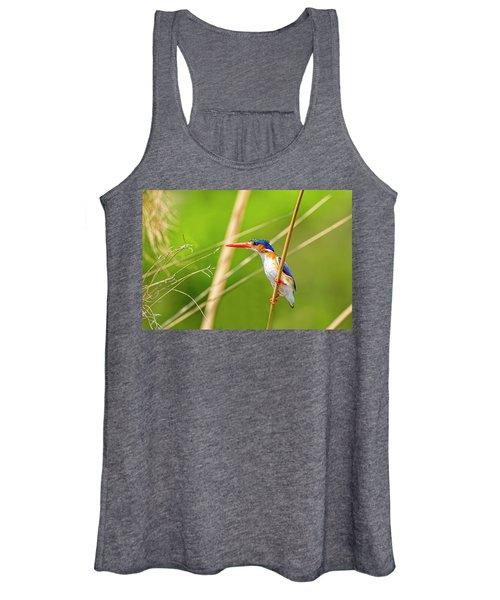 Malachite Kingfisher Women's Tank Top