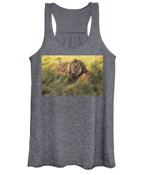 Male And Female Lion Women's Tank Top