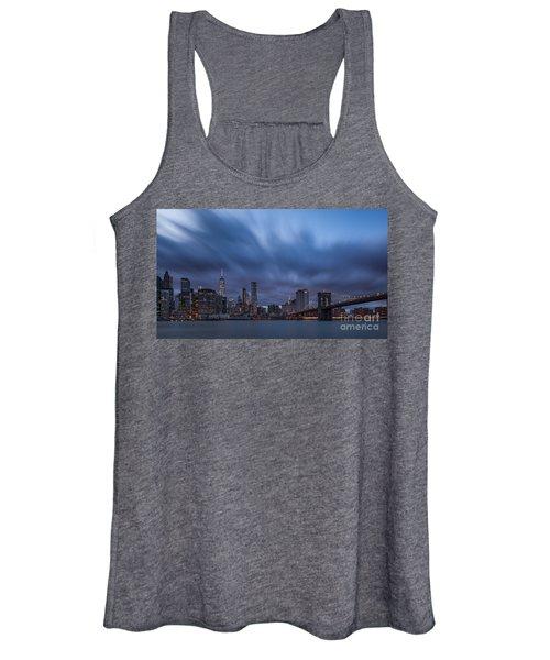 Manhattan And Brooklyn Bridge Women's Tank Top