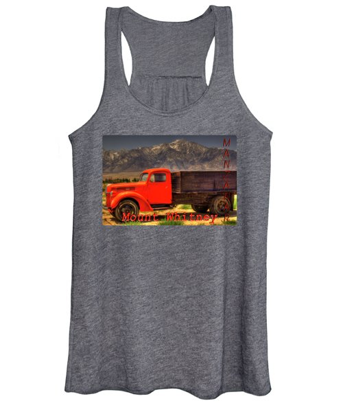 Manzanar Food Delivery Truck And Mt. Whitney Women's Tank Top
