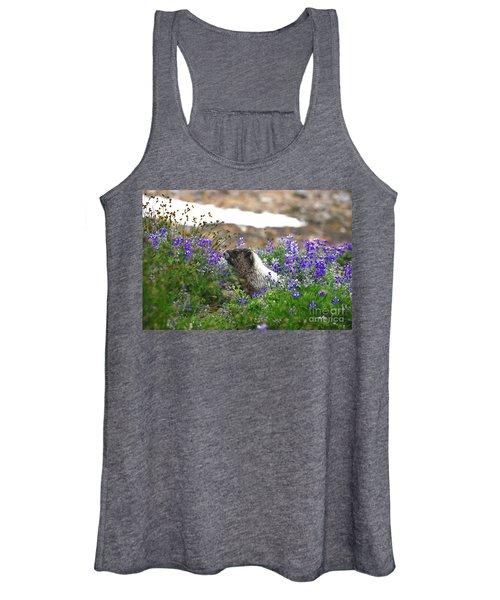 Marmot In The Wildflowers Women's Tank Top