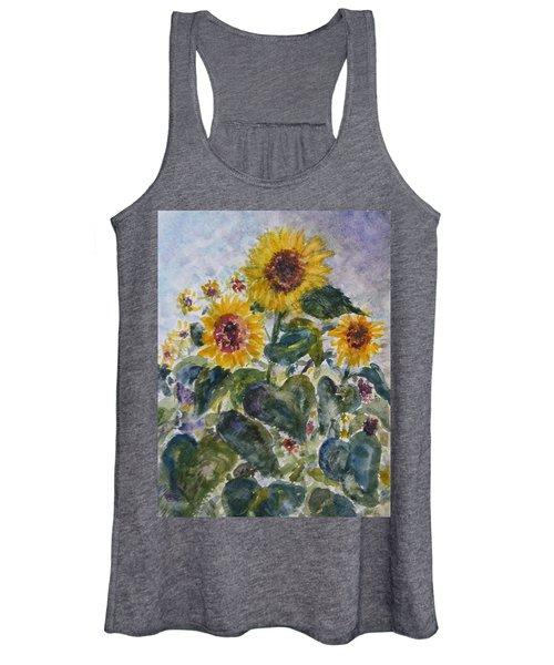 Martha's Sunflowers Women's Tank Top