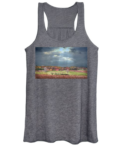 Maryland Farm With Autumn Colors And Approaching Storm Women's Tank Top