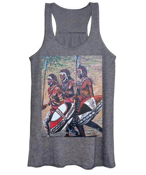 Blaa Kattproduksjoner       Masaai Warriors Women's Tank Top