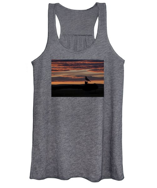 Meadow Lark's Salute To The Sunset Women's Tank Top