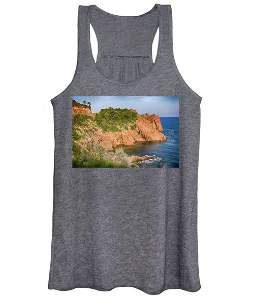 Mediterranean French Coastline Women's Tank Top