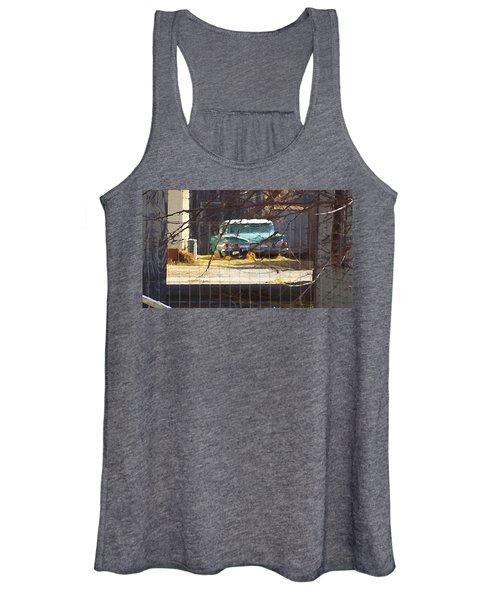 Memories Of Old Blue, A Car In Shantytown.  Women's Tank Top