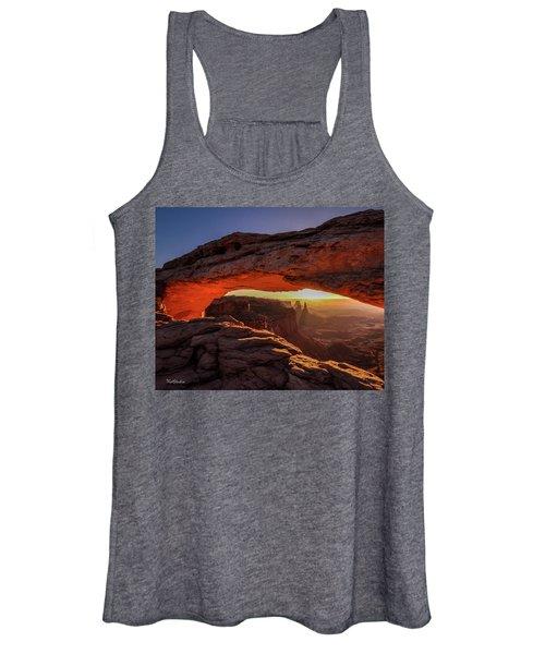 Mesa Arch At Sunrise 1, Canyonlands National Park, Utah Women's Tank Top
