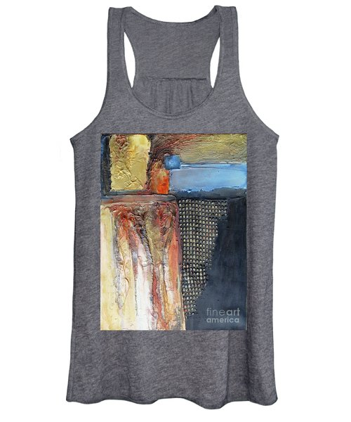 Metallic Fall With Blue Women's Tank Top