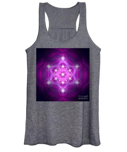 Metatron's Cube Purple Women's Tank Top
