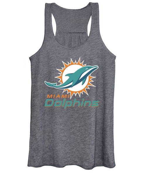 Miami Dolphins Translucent Steel Women's Tank Top