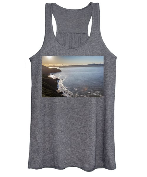 Mid Morning View Of The Downtown San Franscisco Over The Golden  Women's Tank Top