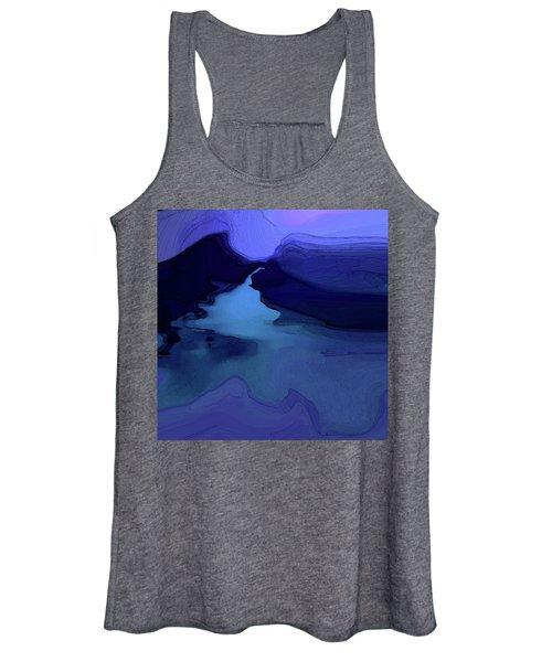 Women's Tank Top featuring the digital art Midnight Blue by Gina Harrison