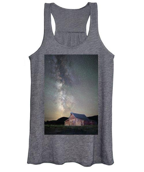 Milky Way And Barn Women's Tank Top