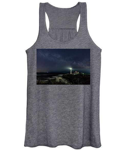 Milky Way At Portland Head Light Women's Tank Top