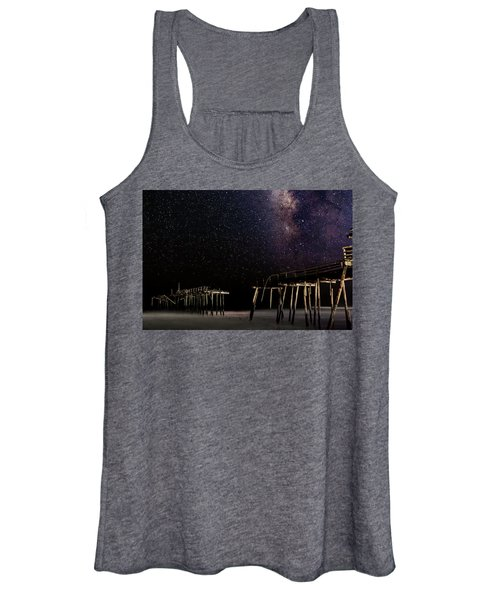 Women's Tank Top featuring the photograph Milky Way Over Frisco by Pete Federico