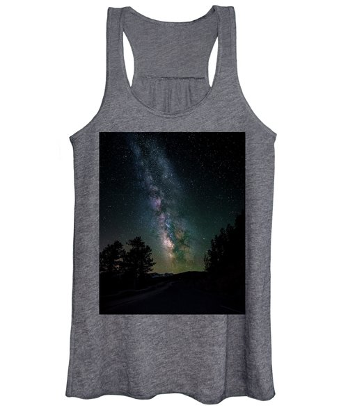 Milky Way Over Rocky Mountains Women's Tank Top