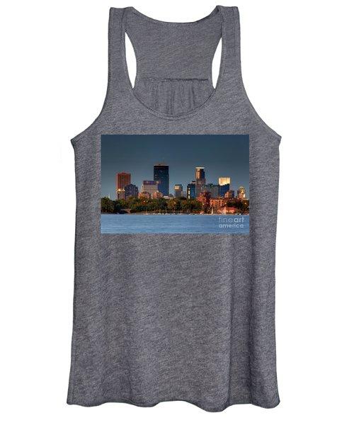Minneapolis Skyline Photography Lake Calhoun Summer Evening Women's Tank Top