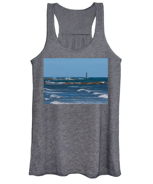Minot Lighthouse Wave Crash Women's Tank Top