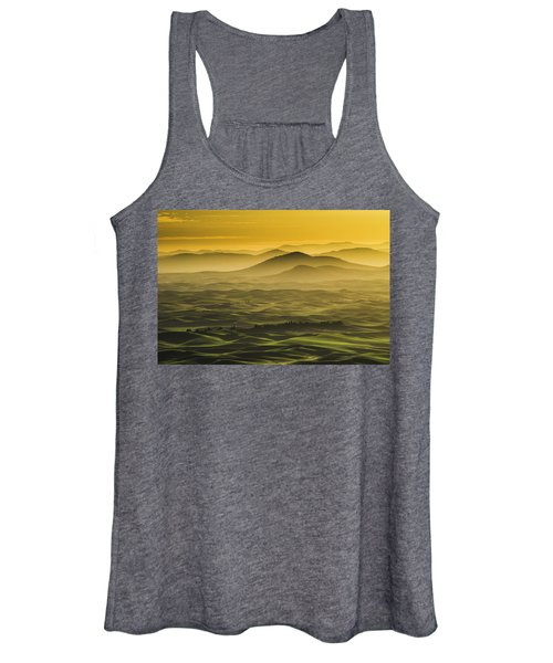 Misty Morning At Palouse. Women's Tank Top