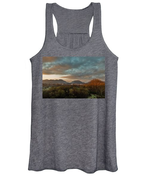 Misty Morning Over The San Diego River Women's Tank Top