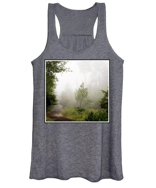 Misty Road At Forest Edge, Pocono Mountains, Pennsylvania Women's Tank Top