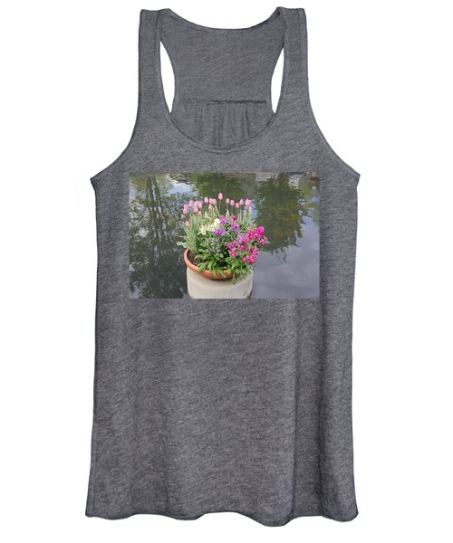 Mixed Flower Planter Women's Tank Top