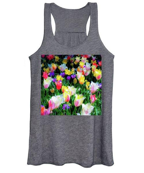 Mixed Tulips In Bloom  Women's Tank Top