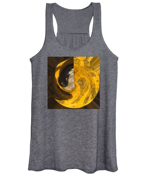 Molten Gold Planet Women's Tank Top
