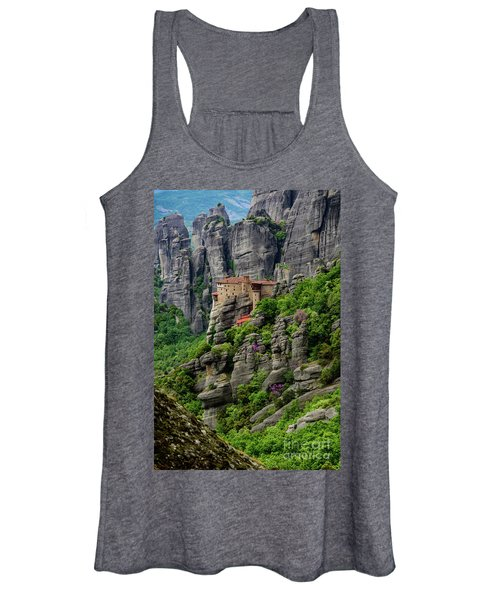 Monastery Of Saint Nicholas Of Anapafsas, Meteora, Greece Women's Tank Top