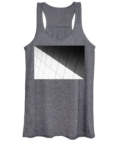 Monochrome Building Abstract 3 Women's Tank Top