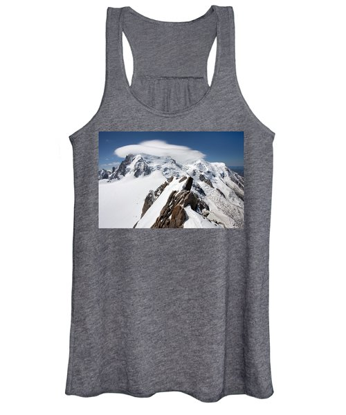Mont Blanc And Ufo Women's Tank Top