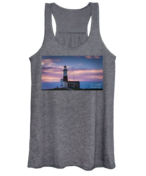 Montauk Lighthousepastel  Sunrise Women's Tank Top