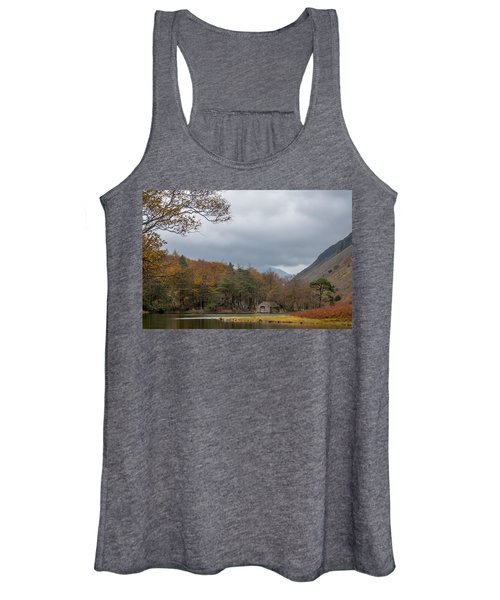 Moody Clouds Over A Boathouse On Wast Water In The Lake District Women's Tank Top