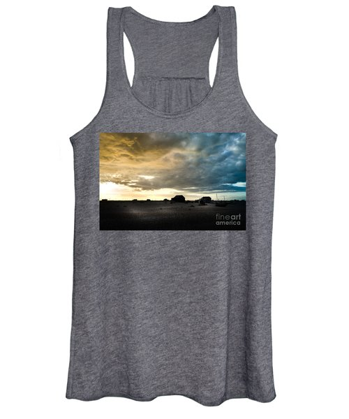 Women's Tank Top featuring the photograph Moody Sky, Dungeness Beach  by Perry Rodriguez