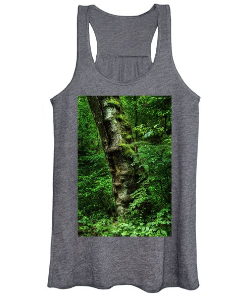 Moody Tree In Forest Women's Tank Top