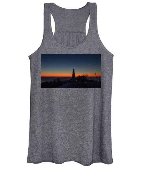 Moon And Venus - Headlight Sunrise Women's Tank Top