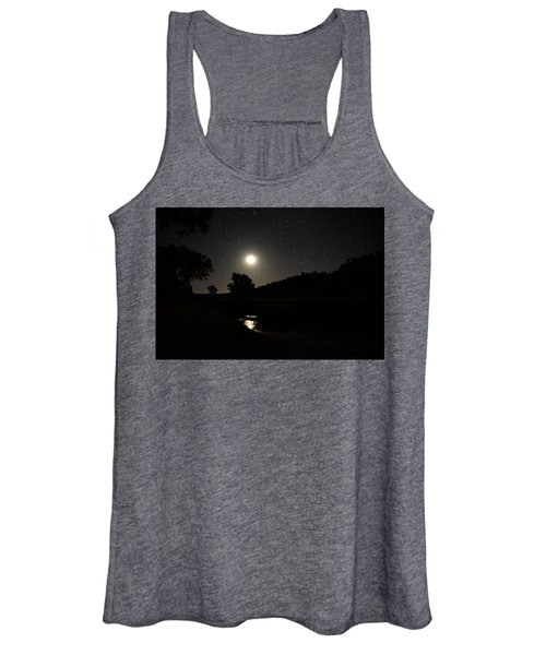 Moon Set Over Palm Valley 2 Women's Tank Top