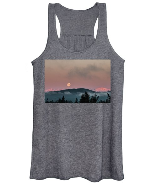 Moonset At Dawn Women's Tank Top