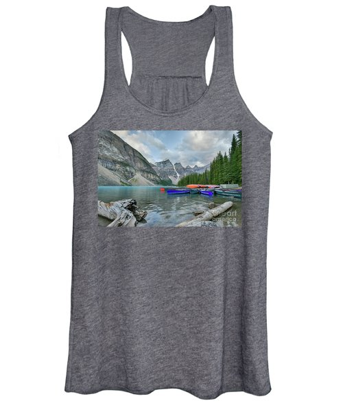 Moraine Logs And Canoes Women's Tank Top