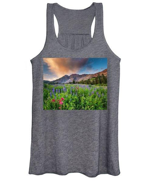 Morning Flowers In Little Cottonwood Canyon, Utah Women's Tank Top