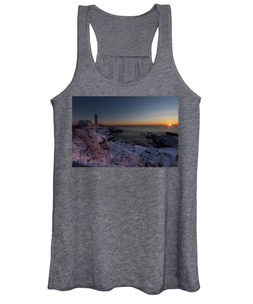 Morning Glow At Portland Headlight Women's Tank Top