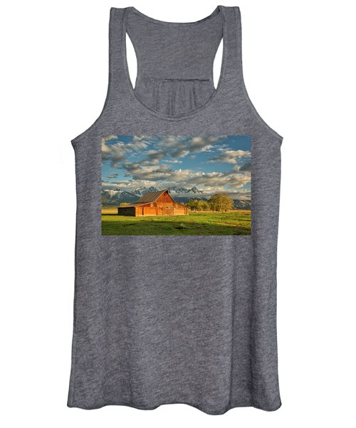Morning Light On Moulton Barn #2 Women's Tank Top