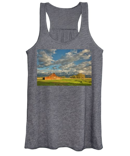 Morning Light On Moulton Barn Women's Tank Top