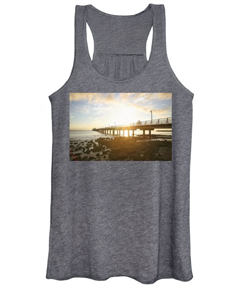 Morning Sunshine At The Pier  Women's Tank Top