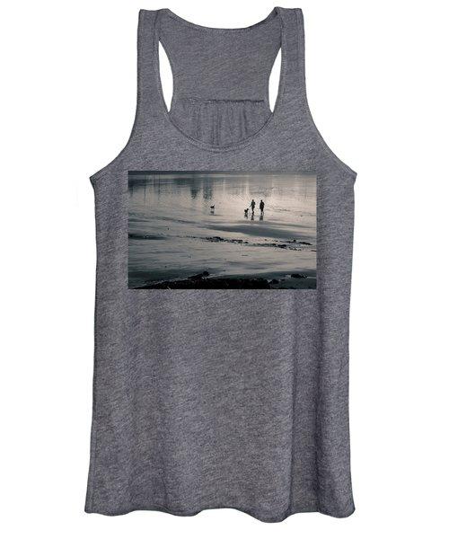 Morning Walk, Gooch's Beach, Kennebunk, Maine Women's Tank Top